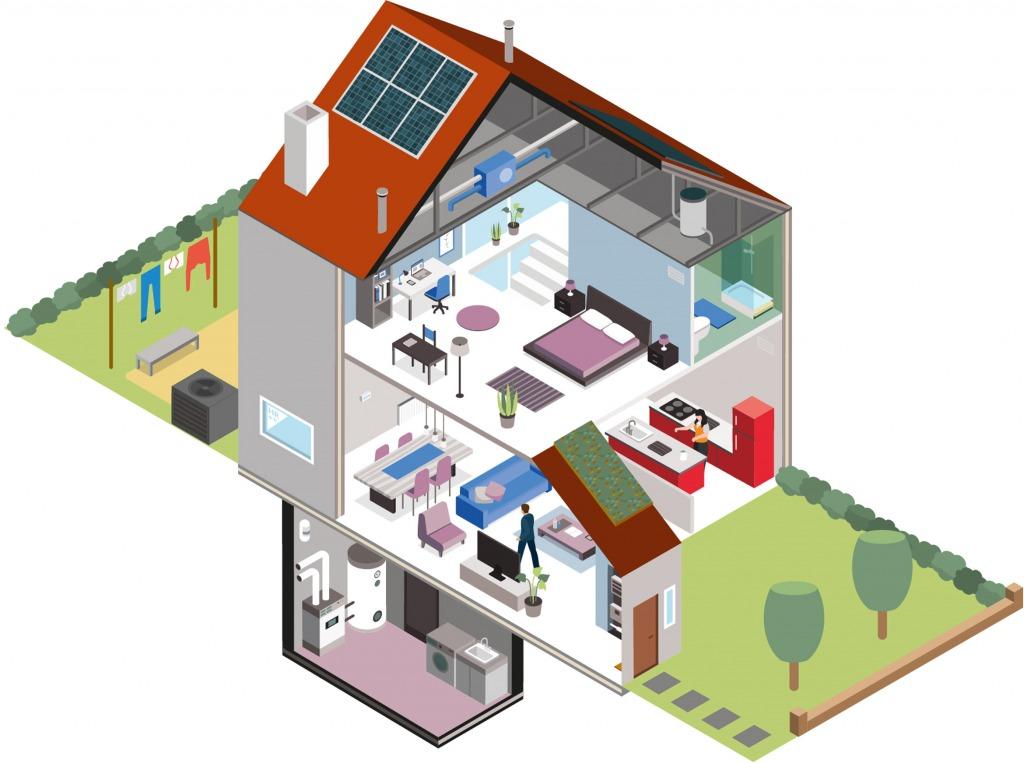 Isometrische tekening huis