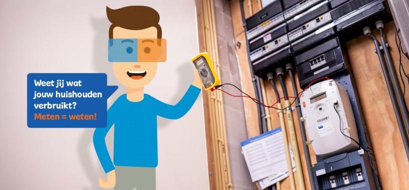 Oscar meet zijn energieverbruik